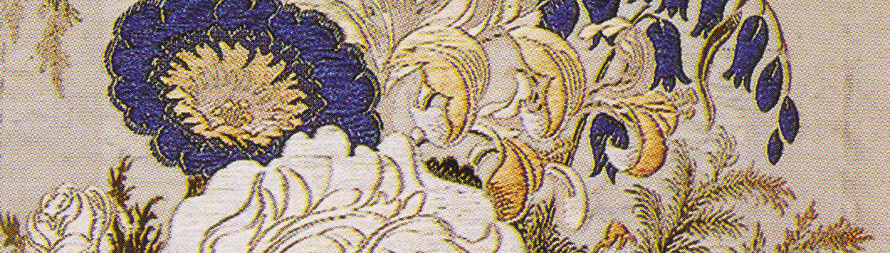 Details of flowery fabric.